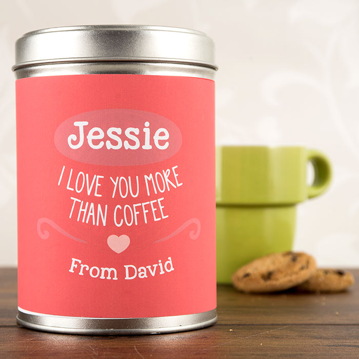 I Love You More Than Coffee: Personalised Roast And Ground Coffee