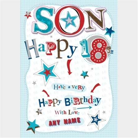 Personalised Card - Son's 18th Birthday :: Personalised ...