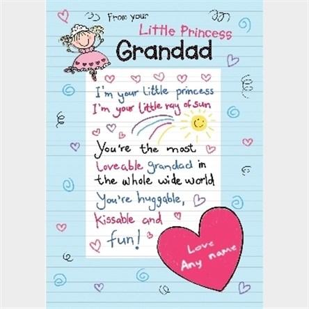 Personalised Birthday Cards For Grandad | GettingPersonal ...