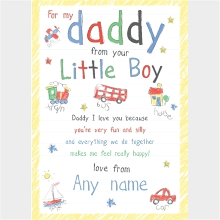Personalised Card Happy Birthday Daddy Personalised