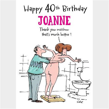 Personalised 40th Birthday Cards | GettingPersonal.co.uk