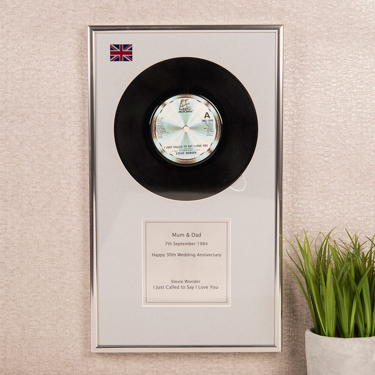 Your Special Record Personalised Vinyl Plaque Premier