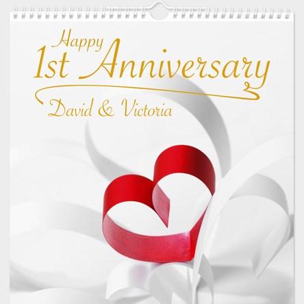 1st Wedding Anniversary Gift Ideas Uk : 1st Wedding Anniversary Gifts GettingPersonal.co.uk