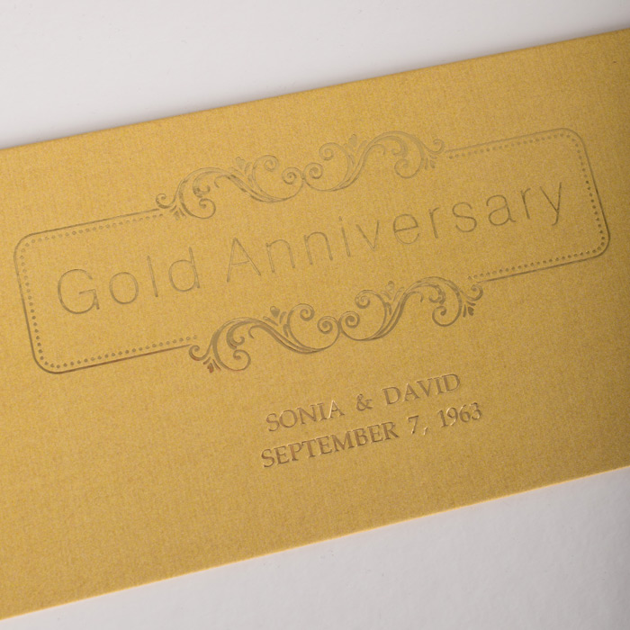 Golden Wedding Gift Box : Deluxe Golden Wedding Anniversary Gift Box GettingPersonal.co.uk