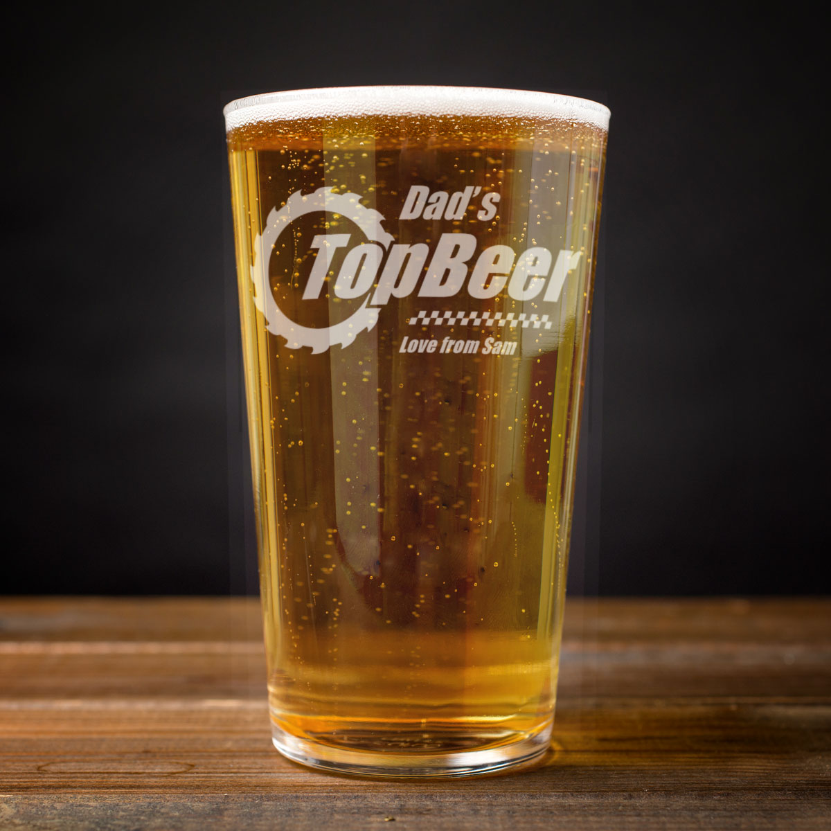 Personalised Pint Glass Dad S Top Beer Engraved Gifts
