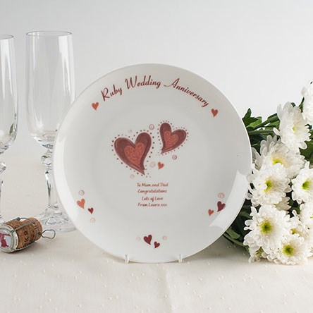 Ruby Wedding Anniversary Gifts GettingPersonal.co.uk