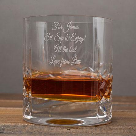 Engraved Whisky Tumbler Happy Birthday Ranger Father S