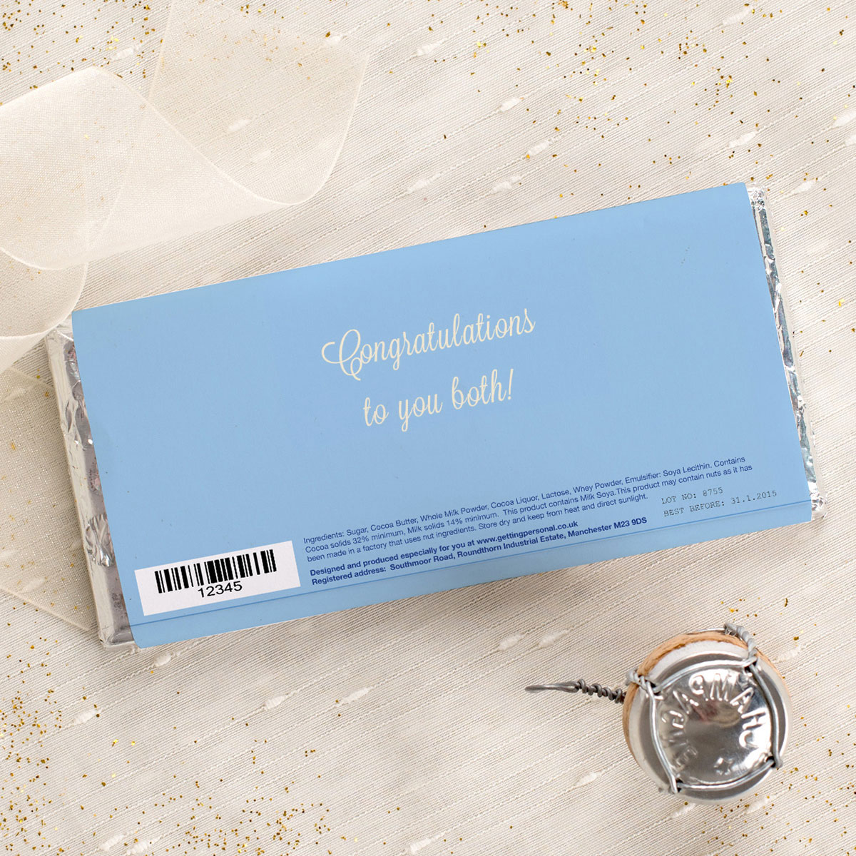 Personalised Wedding Gifts Website Reviews : ... Wedding Blue Birds Personalised Chocolate Unique Gifts