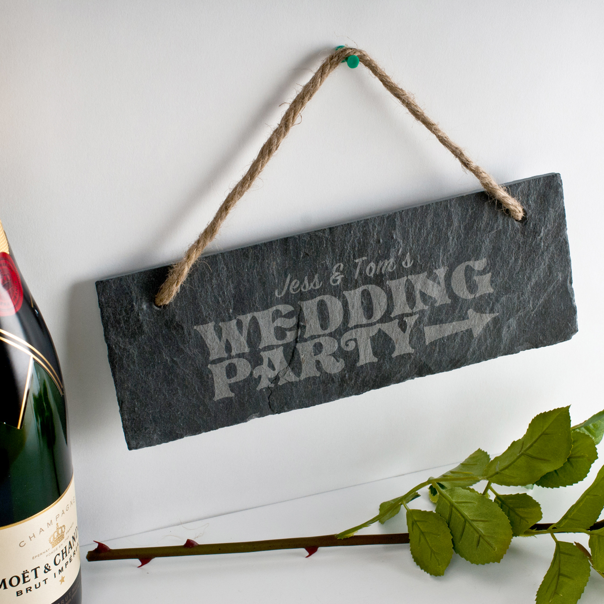 Engraved Wedding Party Hanging Slate Sign Engraved Gifts ...