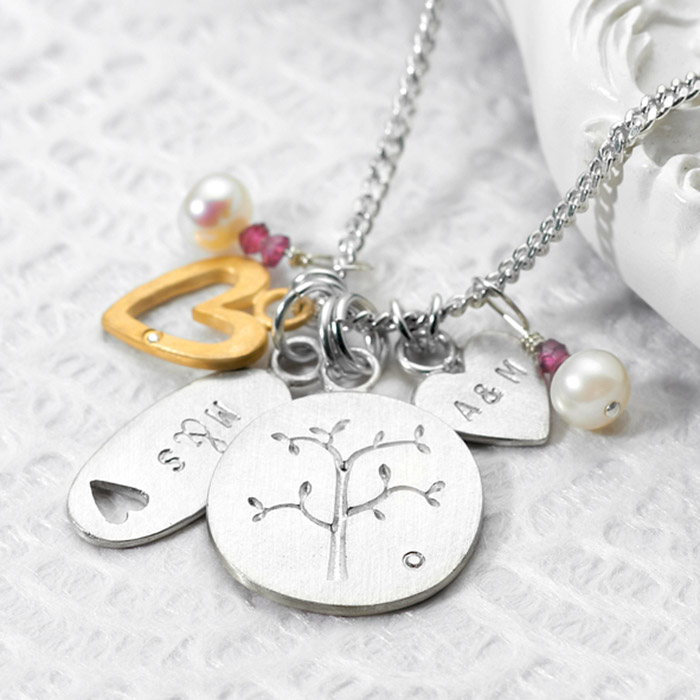 Personalised Family Tree Necklace Gettingpersonal Co Uk