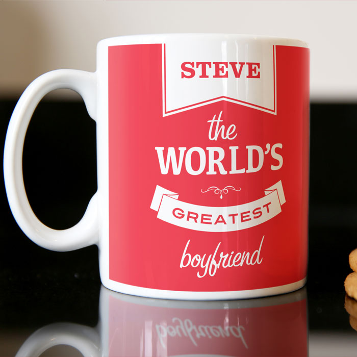 Personalised Valentine's Mug - World's Greatest - For Him