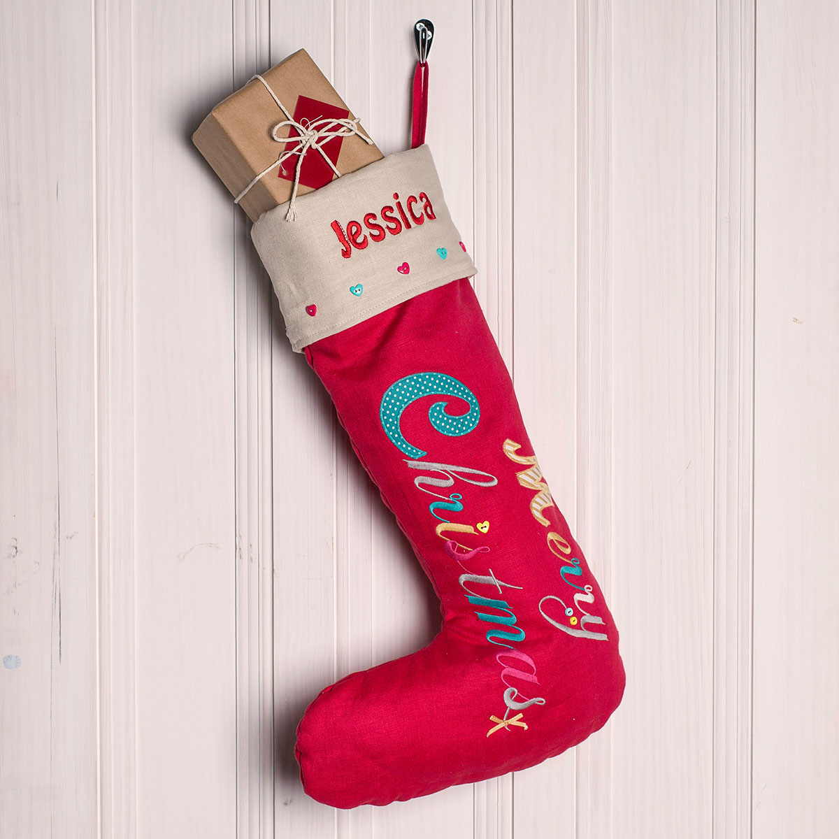 Personalised Embroidered Christmas Stockings