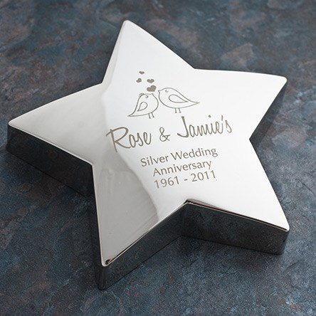 Silver Wedding Gift Ideas Uk : ... (Silver) Wedding Anniversary Gifts & Ideas GettingPersonal.co.uk