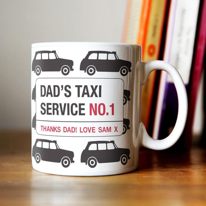 Personalised Mug Dad S Taxi Service Personalised Mugs