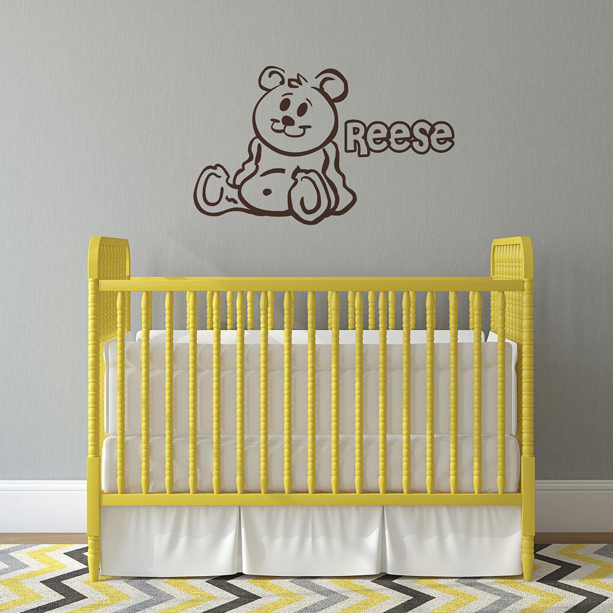 personalised wall sticker teddy gettingpersonal co uk