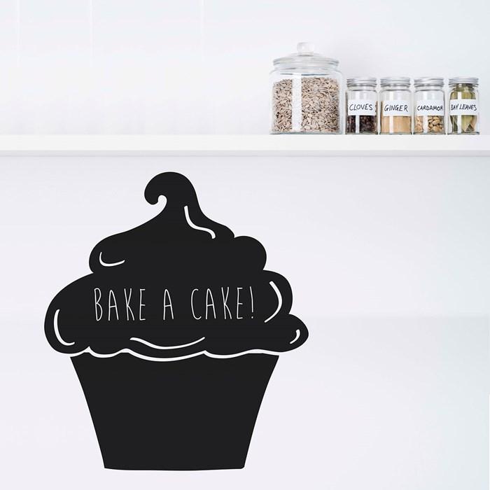 personalised wall sticker cupcake chalkboard