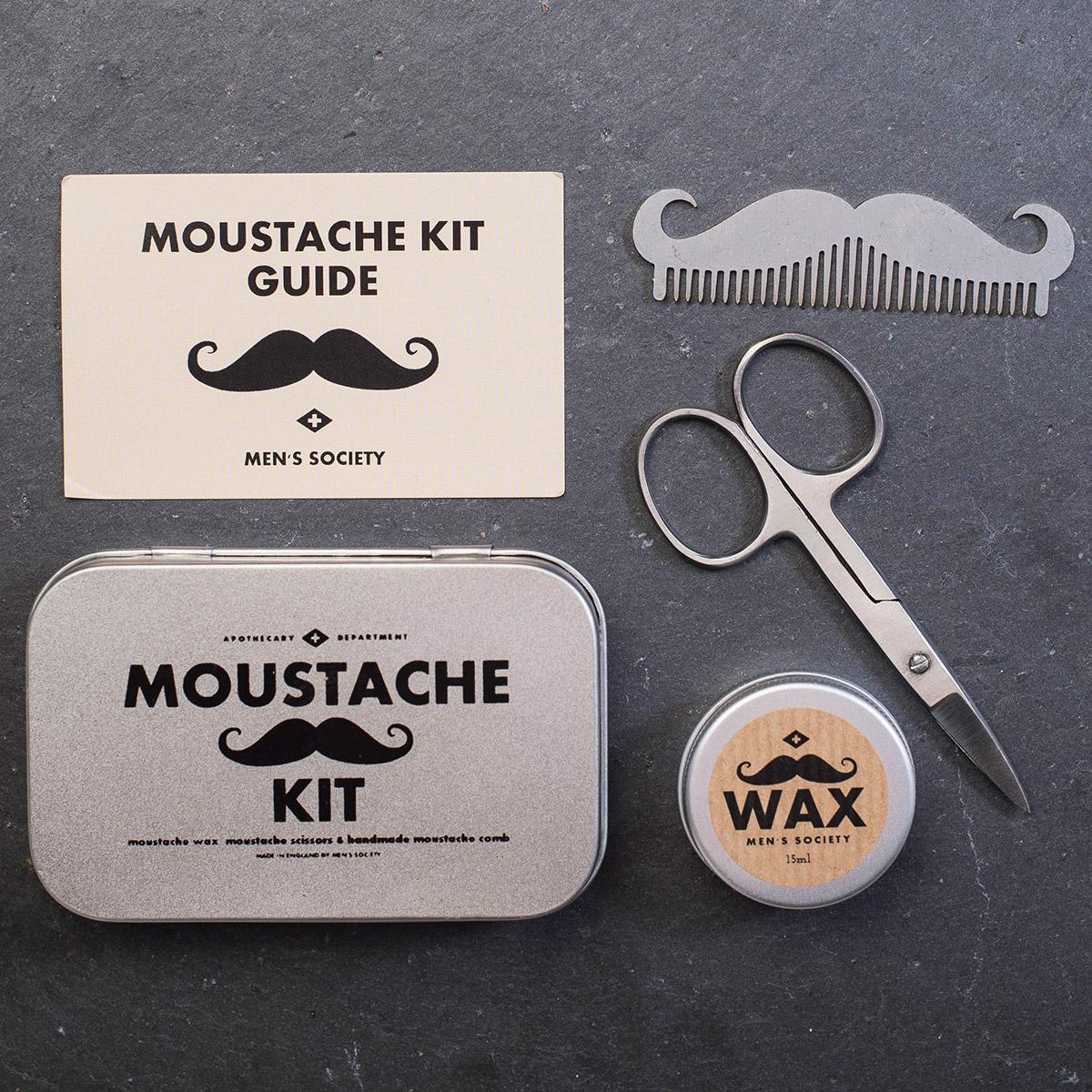 moustache grooming kit. Black Bedroom Furniture Sets. Home Design Ideas