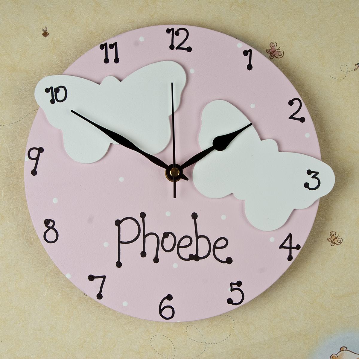Personalised Polka Dot Clock For Girls Personalised