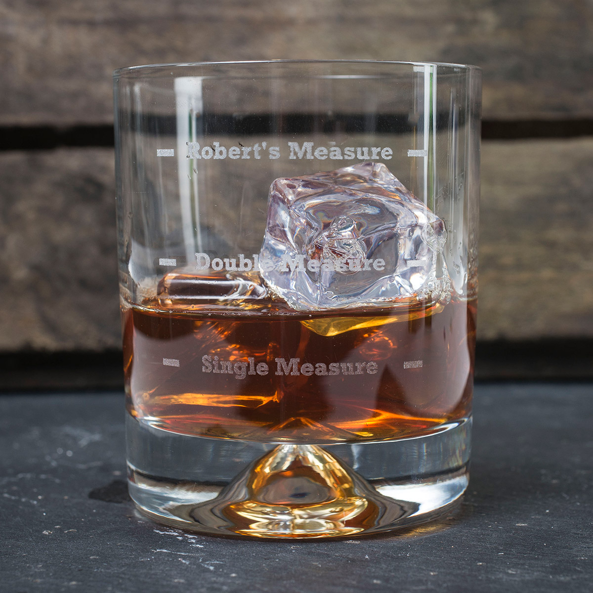 Engraved Stern Whisky Glass Measure Gettingpersonal Co Uk