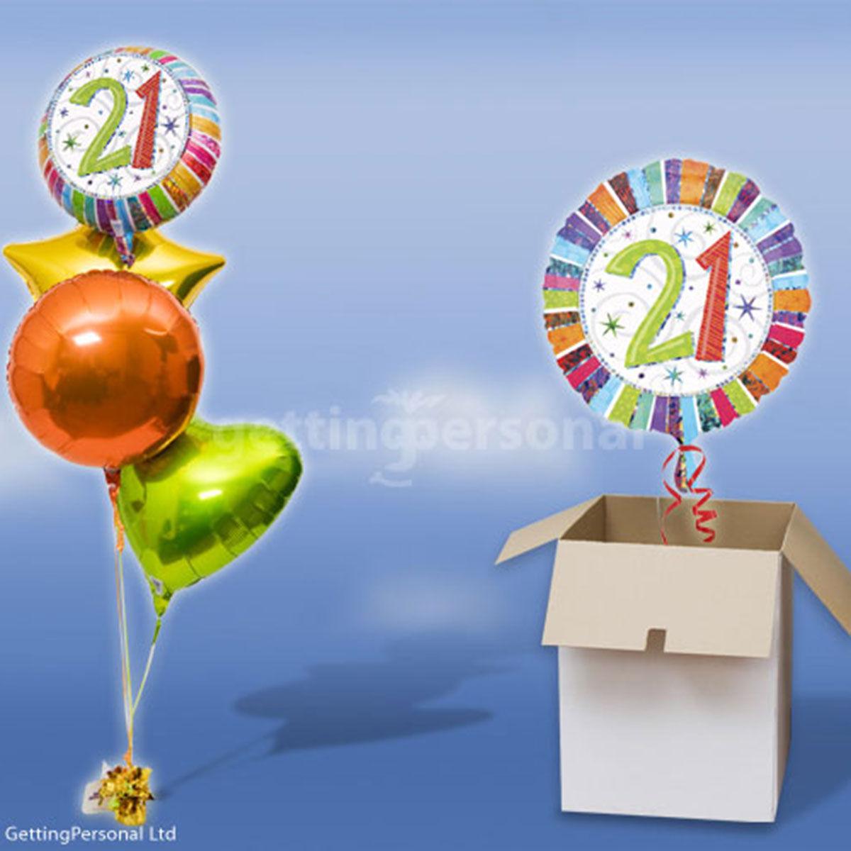 21st birthday balloon in a box