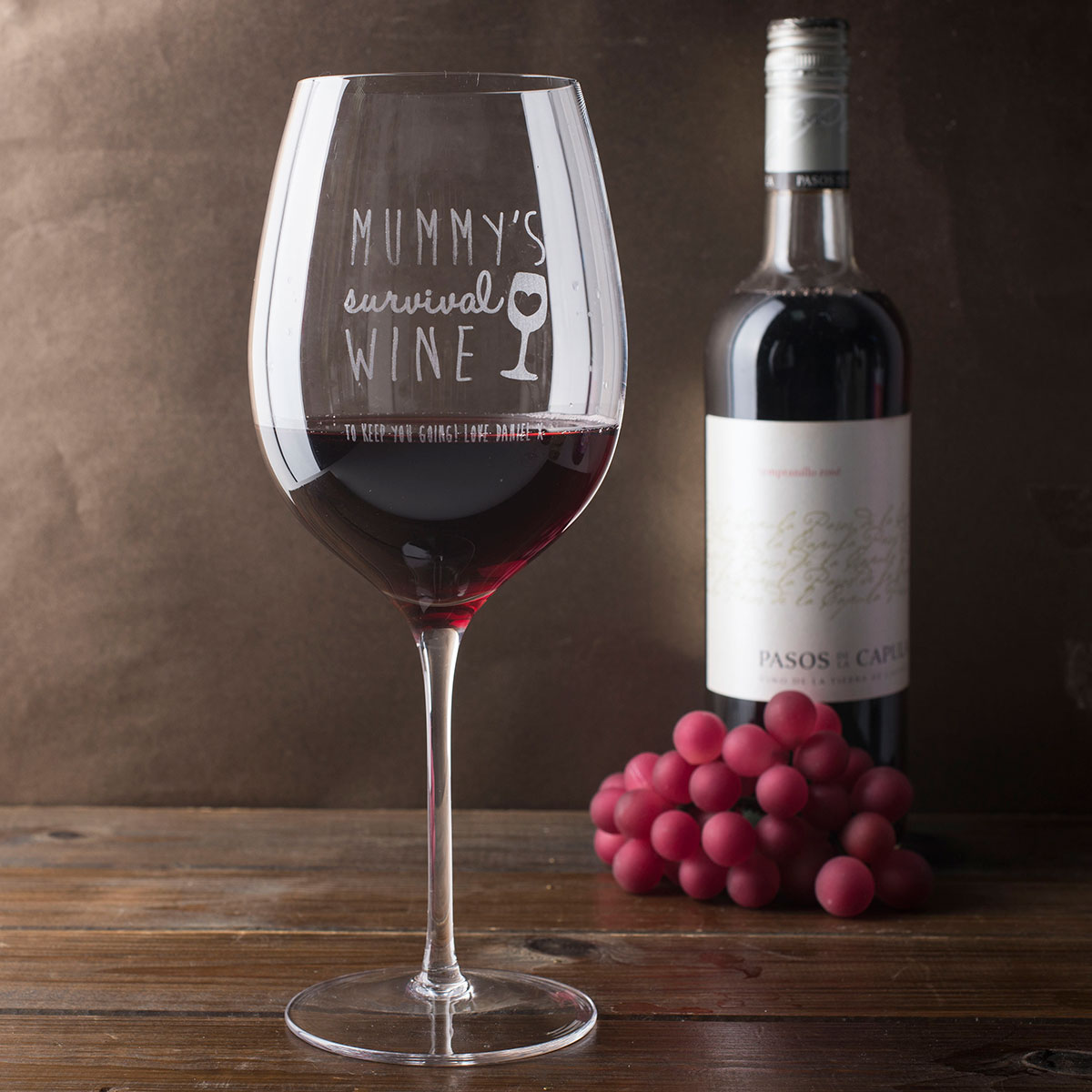 Engraved Giant Wine Glass Mummy 39 S Survival Wine