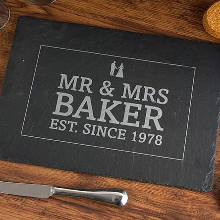 Personalised Anniversary Slate Cheeseboard