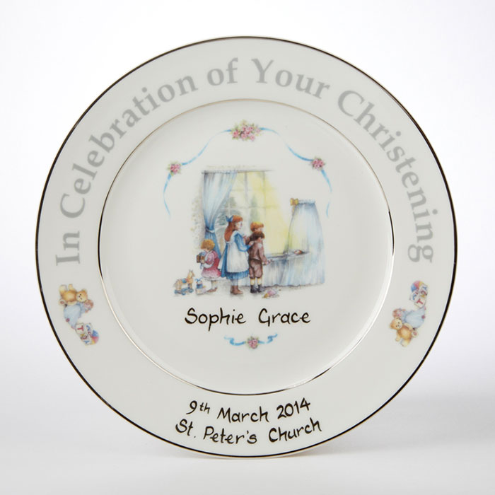 personalised christening plate gettingpersonal co uk