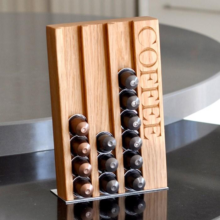 Personalised Oak Coffee Pod Rack Gettingpersonal Co Uk
