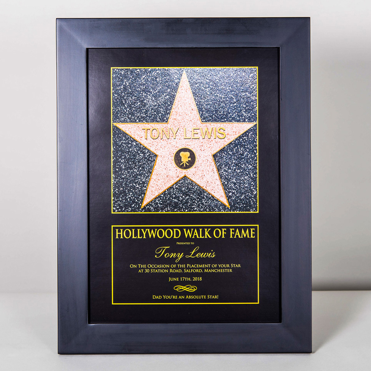Personalised Hollywood Walk Of Fame Star Gettingpersonal