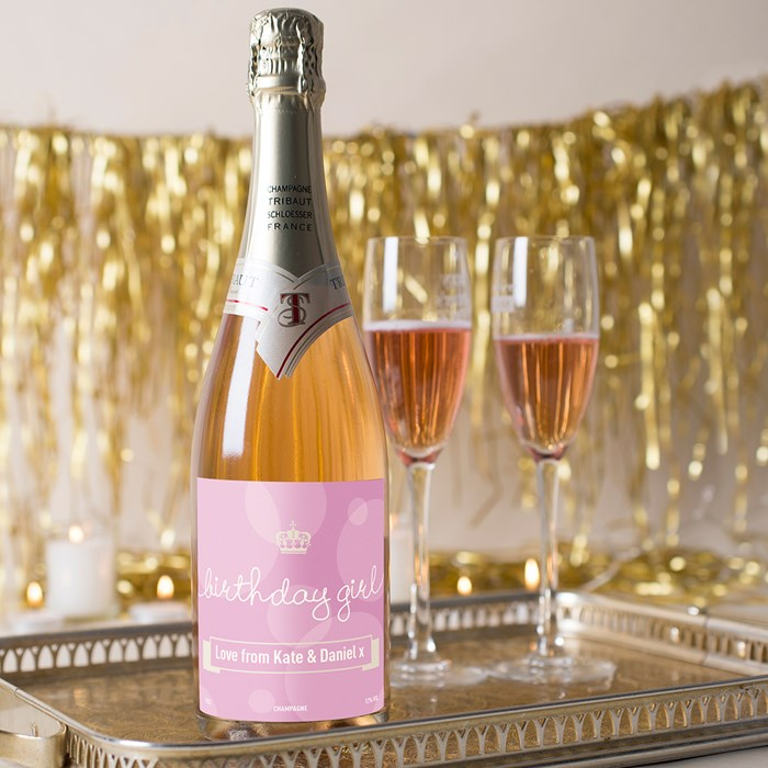 Luxury Personalised Rose Champagne - Birthday Girl | Champagne By Getting Personal