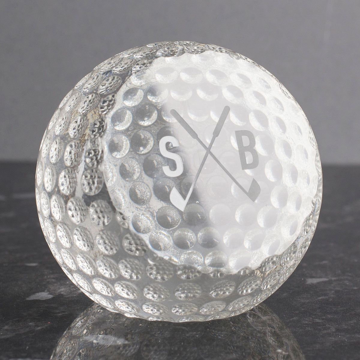 Personalised Crystal Golf Ball Paperweight
