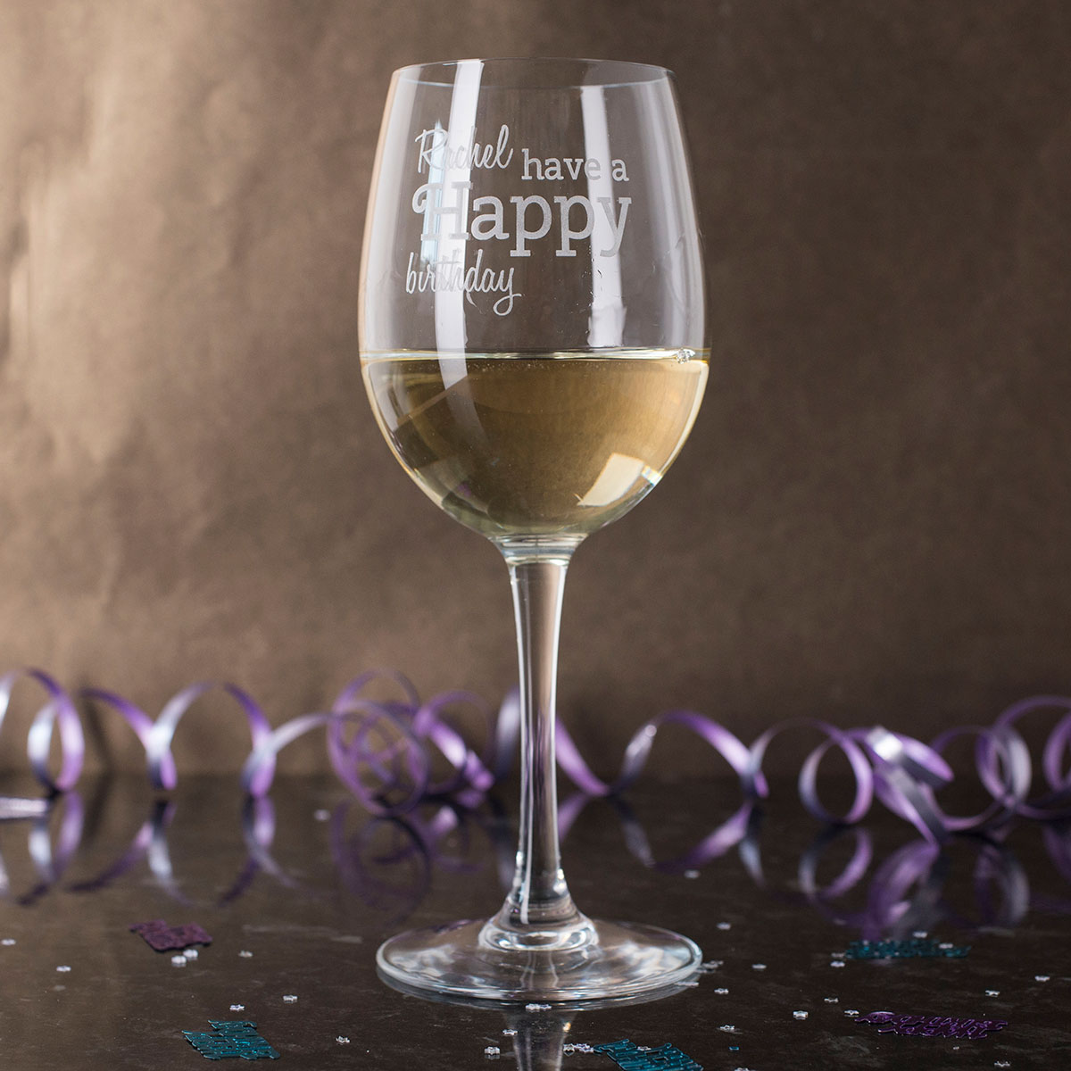 Personalised Wine Glass - Happy Birthday