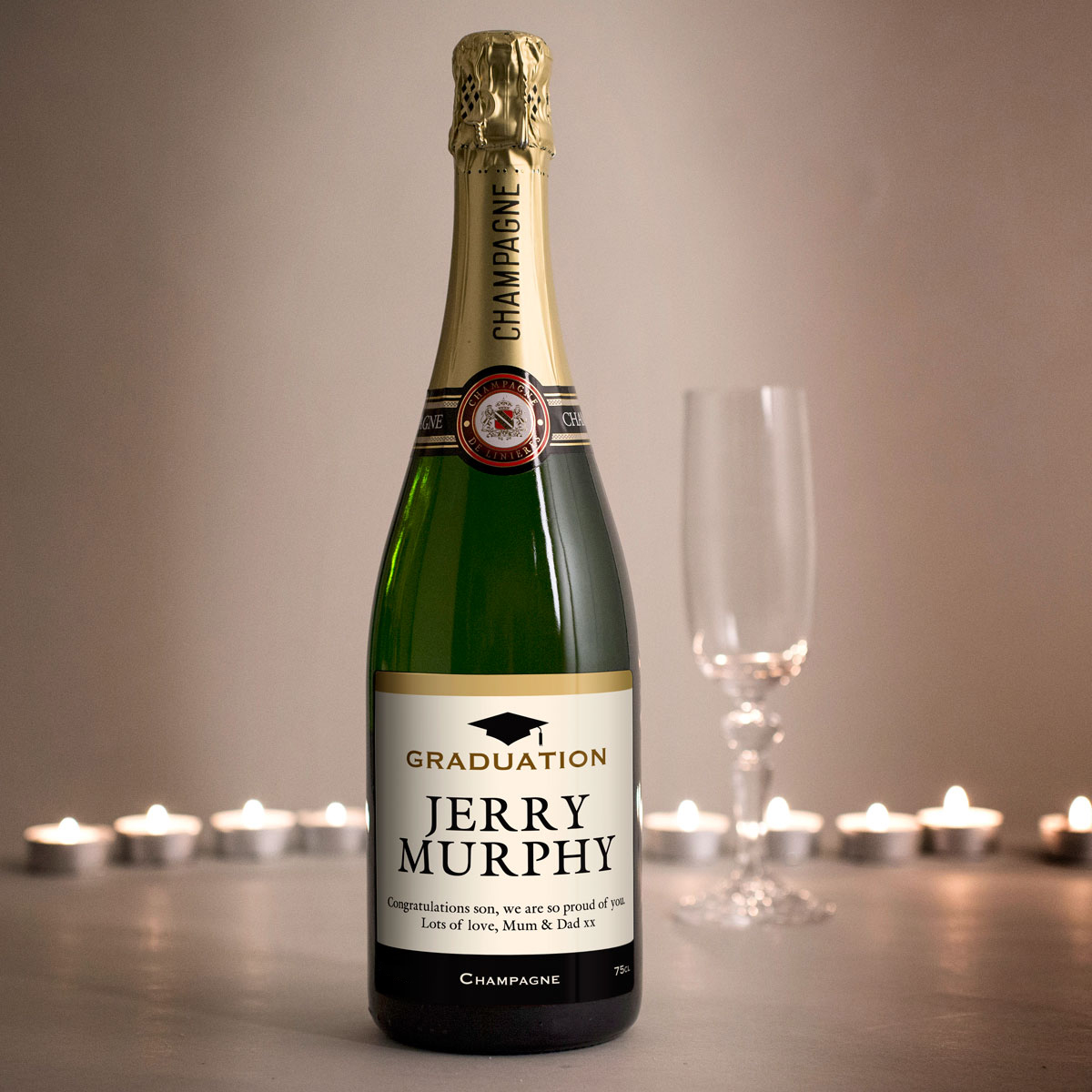 Luxury Personalised Champagne Graduation