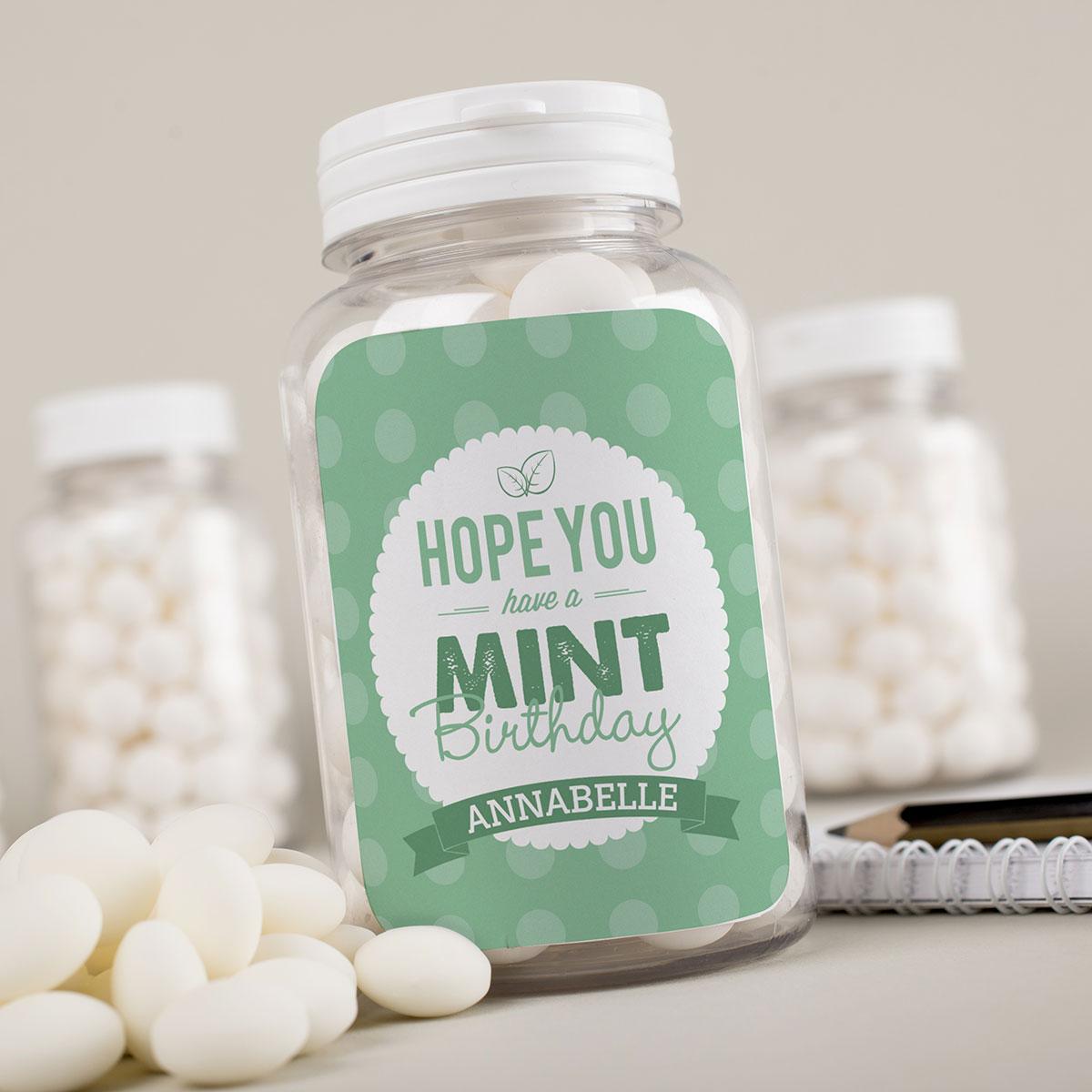 Personalised Mints Mint Birthday Gettingpersonal Co Uk