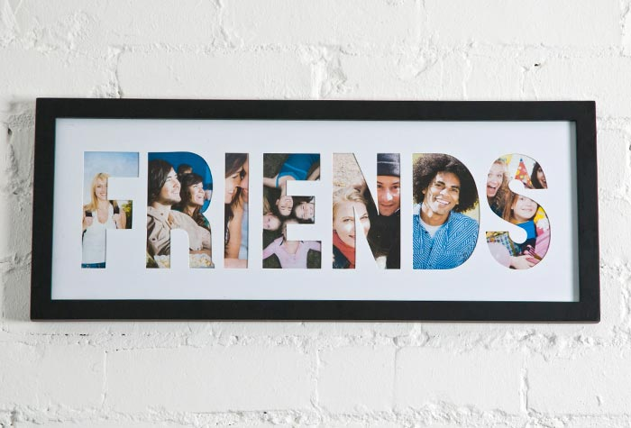 Friends Collage Photo Frame Black Gifts For The Home