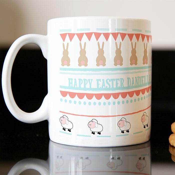 Personalised Mug Rabbits Amp Lambs Gettingpersonal Co Uk