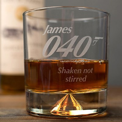 Engraved Best Grandad Whisky Glass Getting Personal