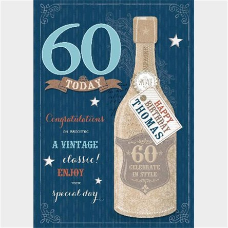 Personalised 60th Birthday Cards From 163 1 49