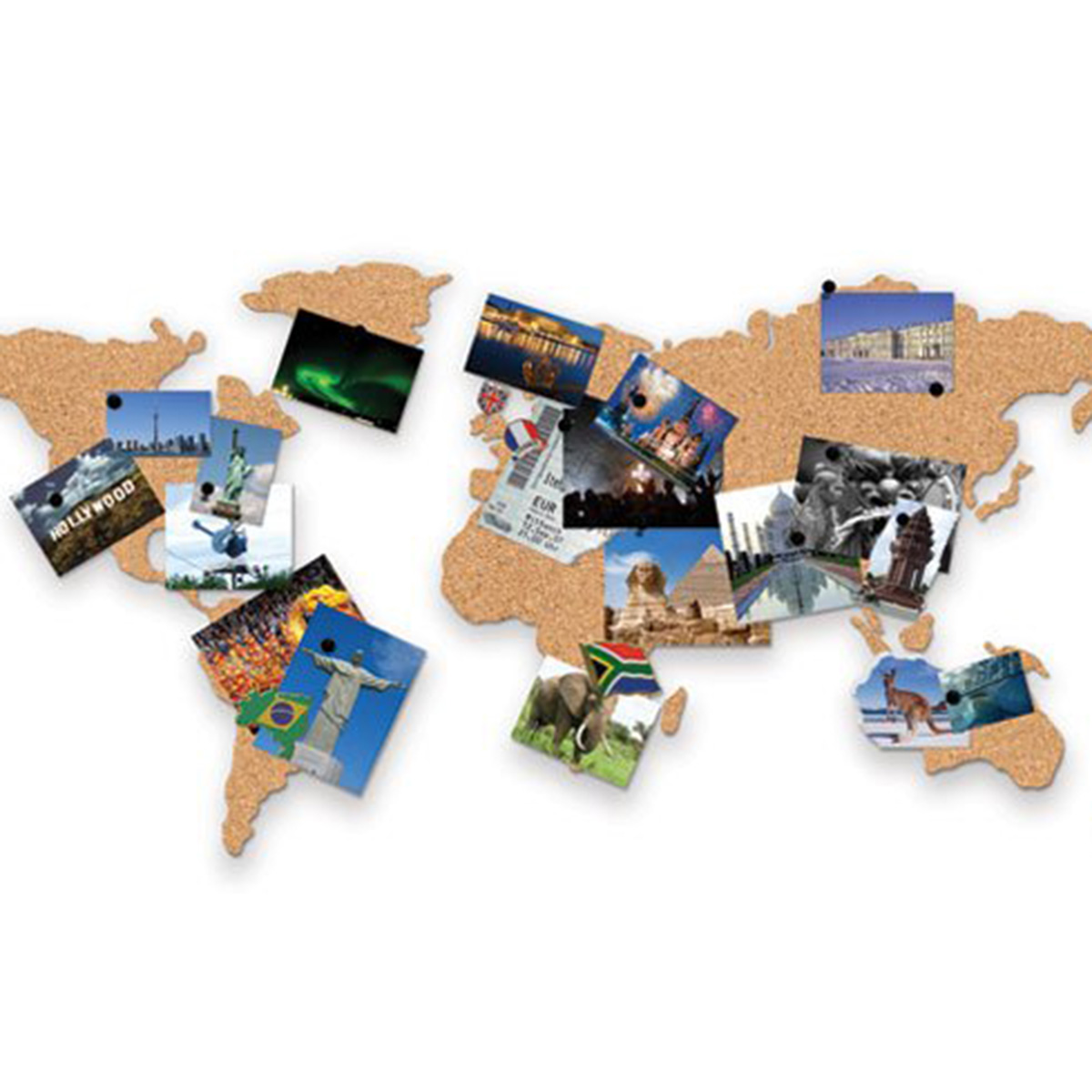 Cork Board World Map Unusual Gifts By Getting Personal