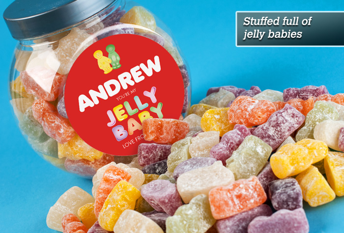 Jelly Baby Gifts Uk : Personalised jelly babies jar you re my baby