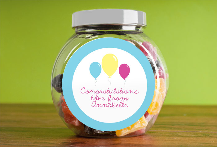 Jelly Baby Gifts Uk : Personalised jelly babies jar congratulations