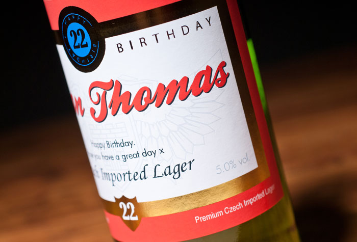 Personalised Lager Traditional Label Personalised Beer