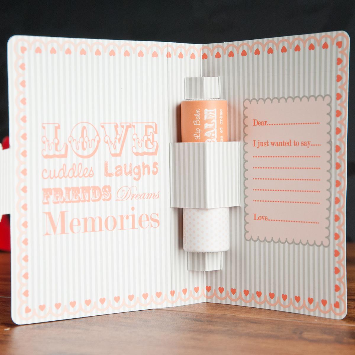 Love Lip Balm Gift Card Peaches Amp Cream Beauty Gifts