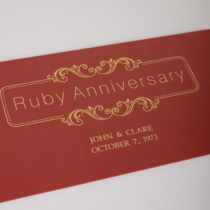 Ruby Wedding Anniversary Gift For Parents Uk : Deluxe Ruby Wedding Anniversary Gift Box GettingPersonal.co.uk