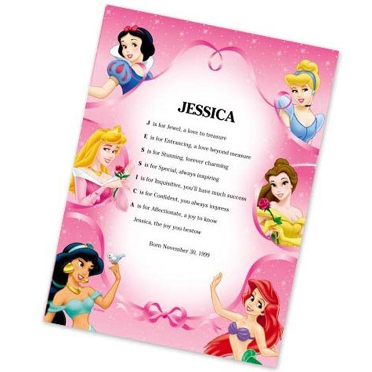 Disney Baby Gifts Uk : Personalised disney princess poem gifts