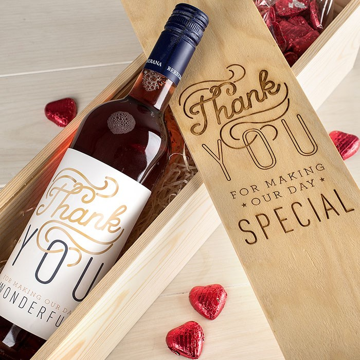 Wine As Wedding Gift: Personalised Wedding Gift Box With Wine And Chocolates