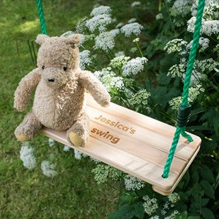 Engraved Wooden Children's Swing
