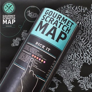Gourmet Scratch Map