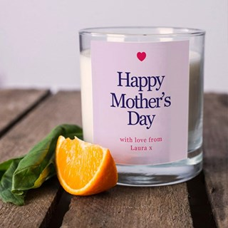 Personalised Mother's Day Candles