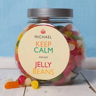 Personalised Jelly Bean Sweet Jars